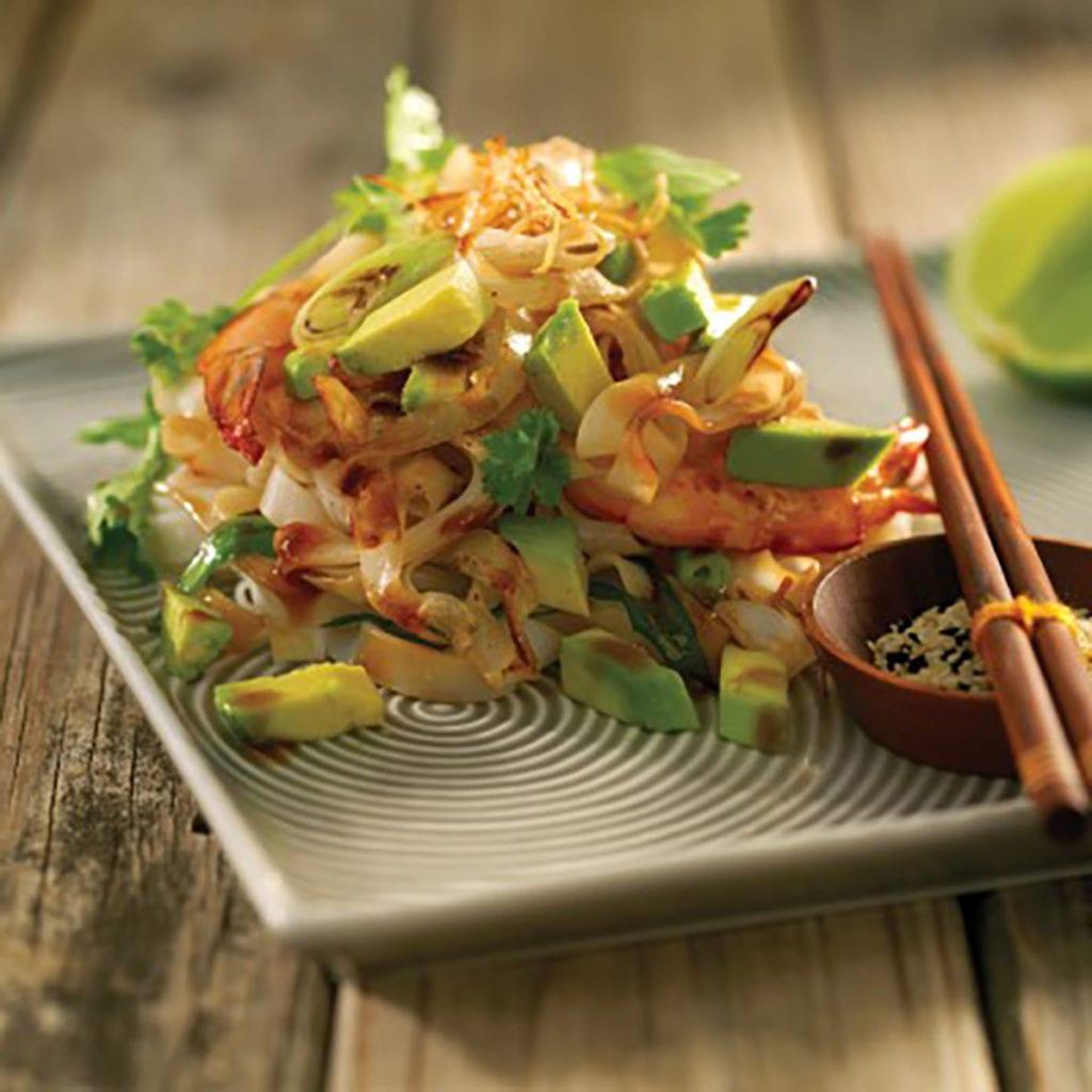 Asian Noodles – Ginger, Garlic & Avocado