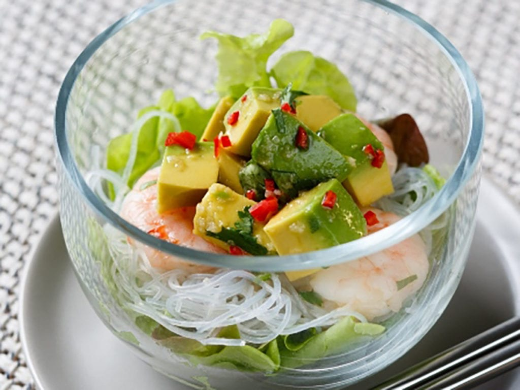 Avocado Prawn Salad with Vietnamese Dressing