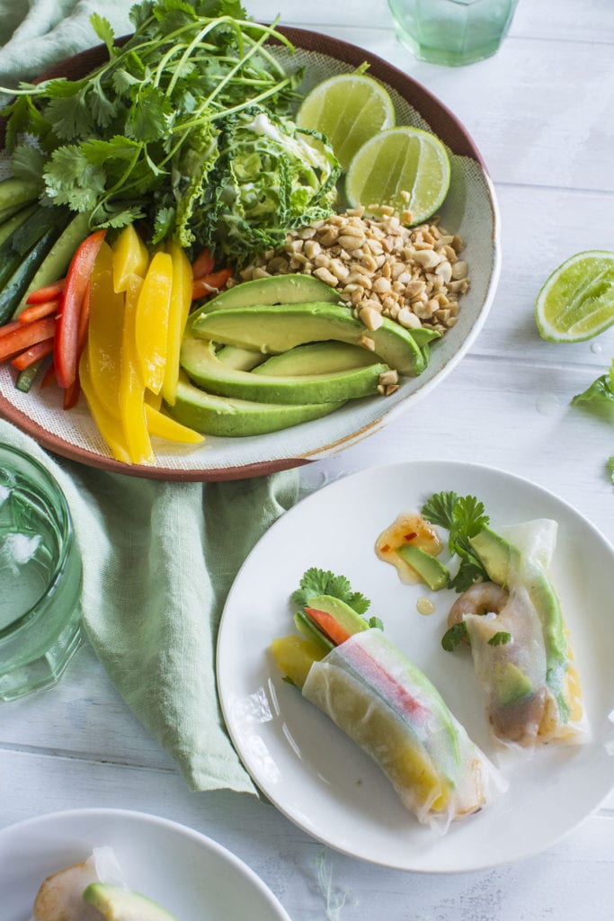 Avocado, Prawn and Mango Summer Spring Rolls