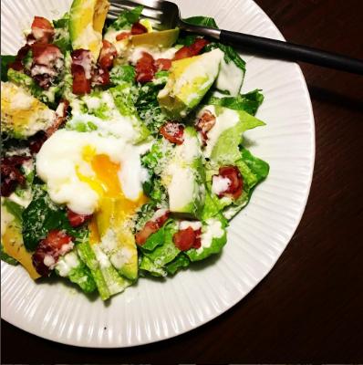 Glamorous Caesar Salad with New Zealand Avocado