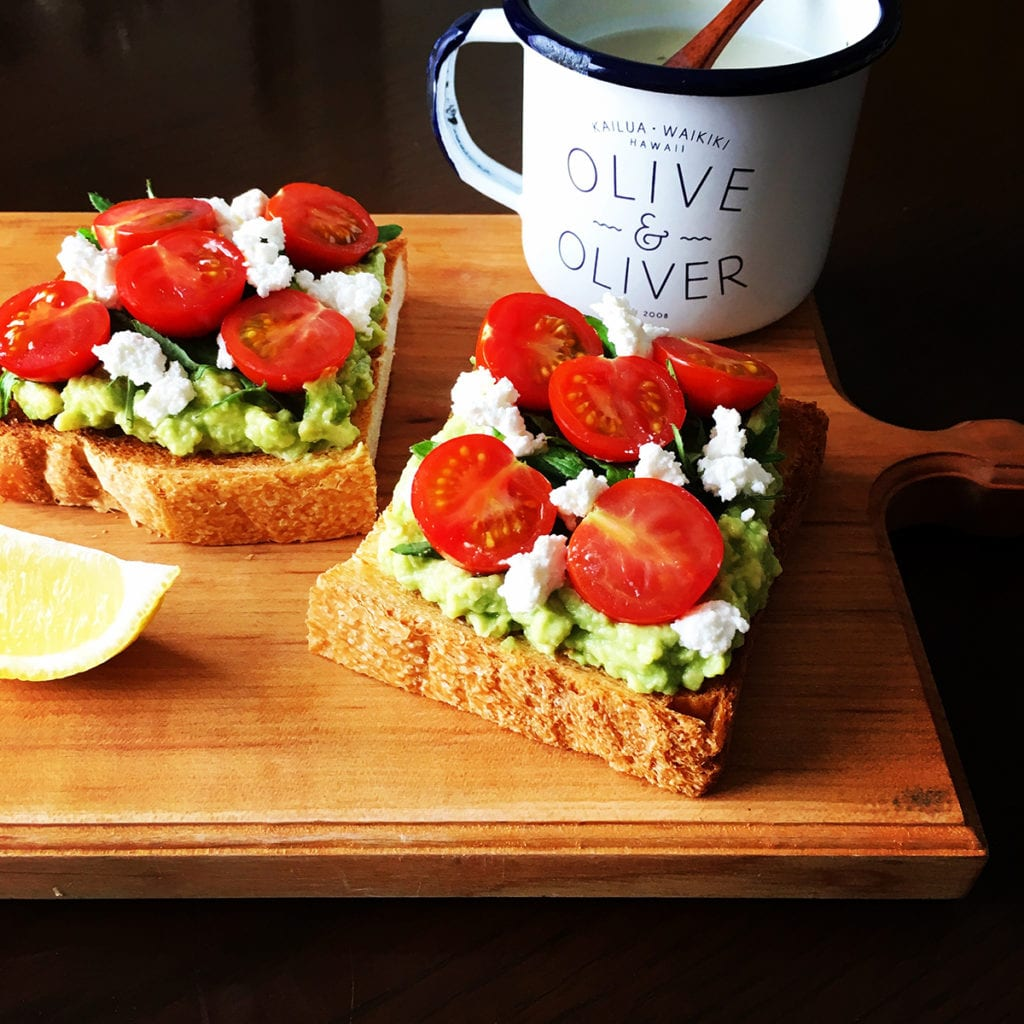 Loaded avocado and tomato on toast