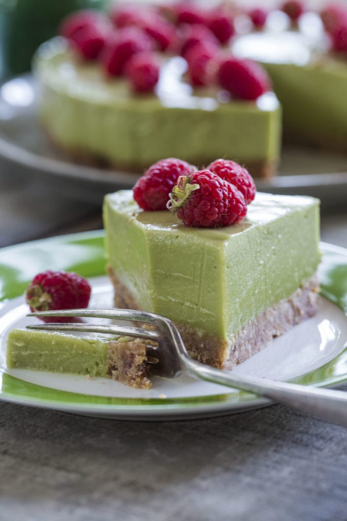 Avocado lime and coconut cheesecake