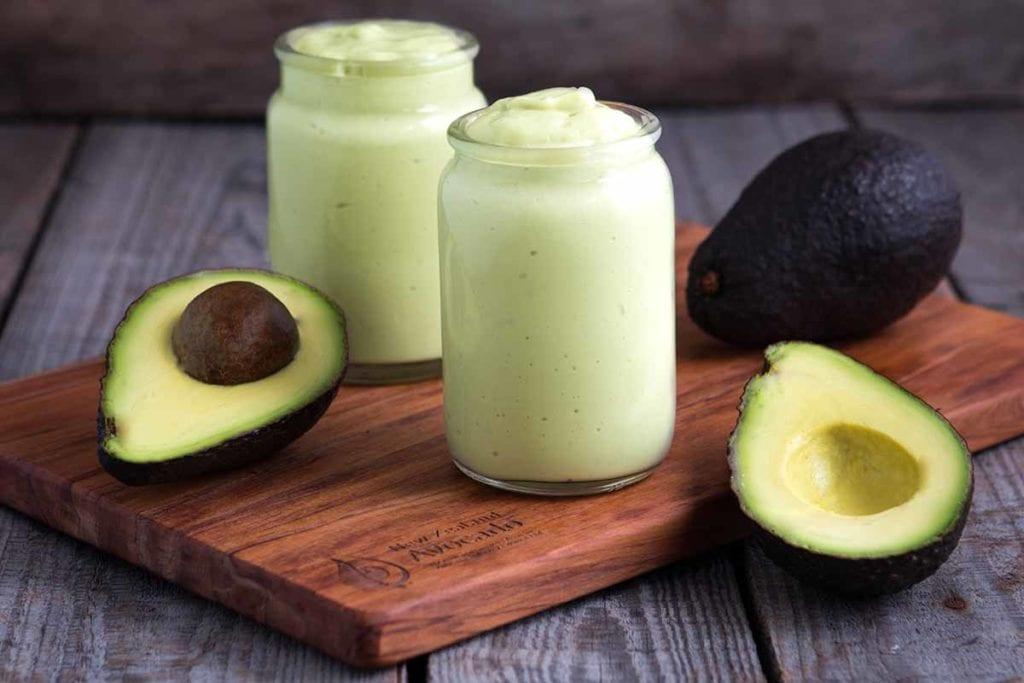 Simple avocado smoothie