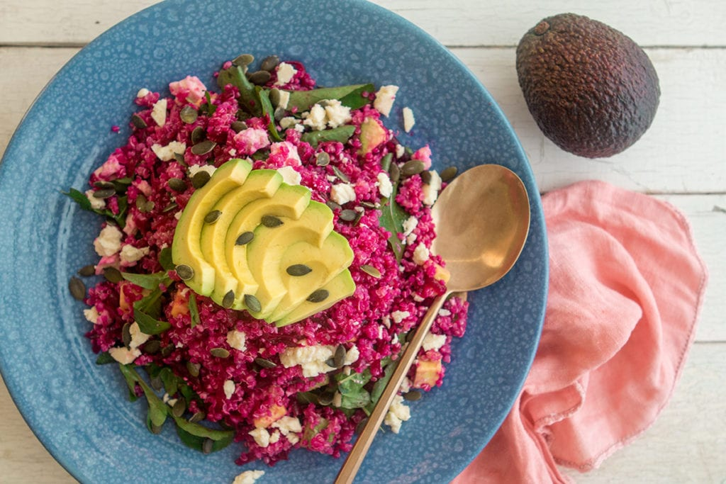Beetroot, avocado & Quinoa salad