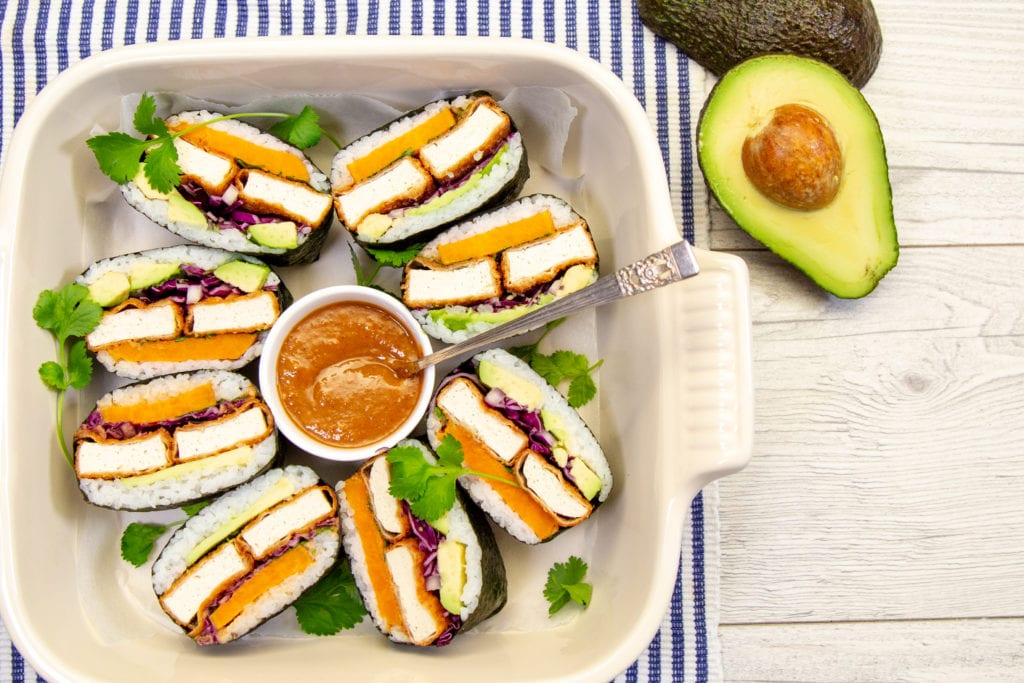 Tofu Sushi Sandwich with Tahini Sauce
