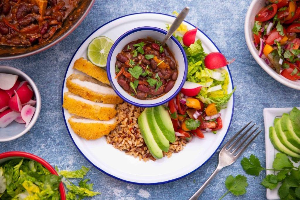 Gluten Free Mexican Chicken Nourish Bowls